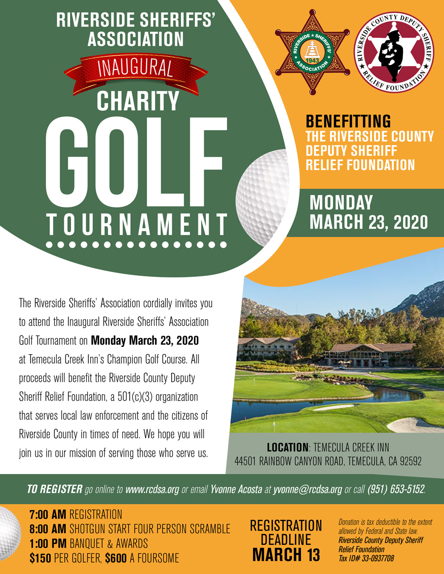 Register Today for the RCDSA Charity Golf Tournament!